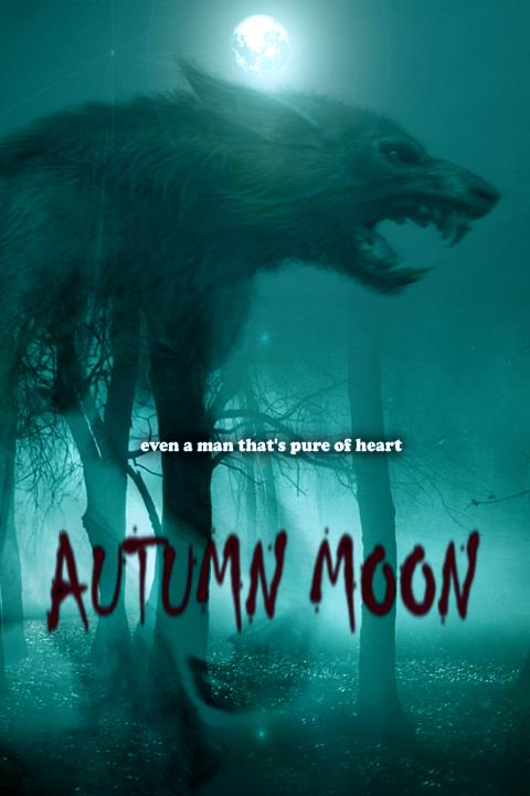 Autumn Moon Horror Movie Werewolf Poster