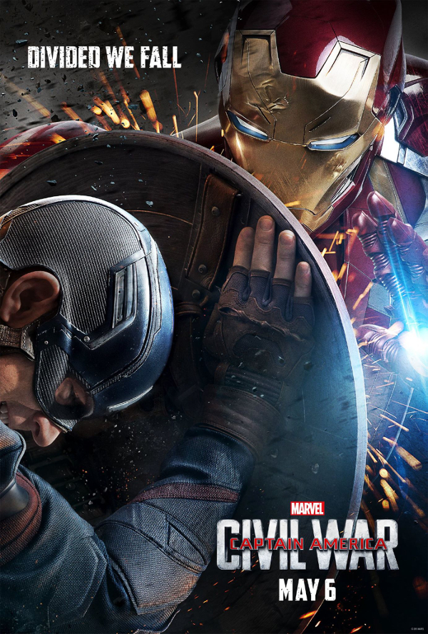 Captain America: Civil War (2016) Captain America vs Iron Man poster