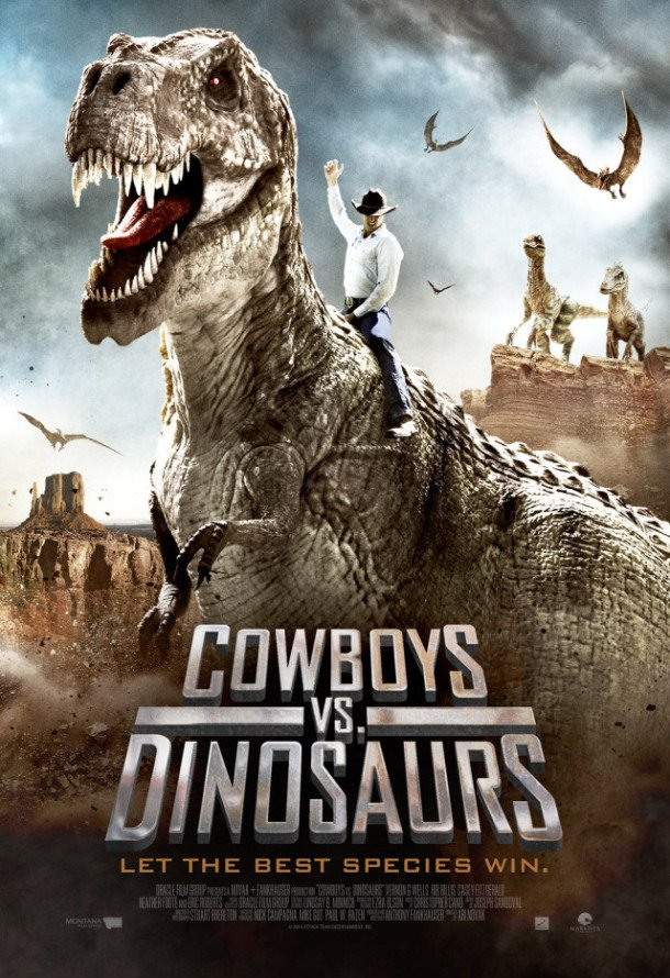 Cowboys vs Dinosaurs (2015) movie poster