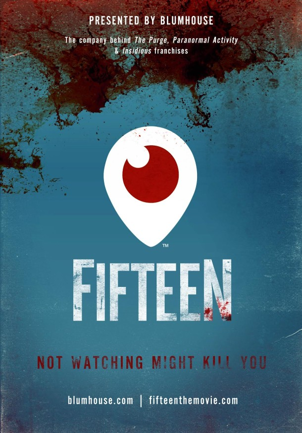 Blumhouse Productions live horror movie Fifteen poster
