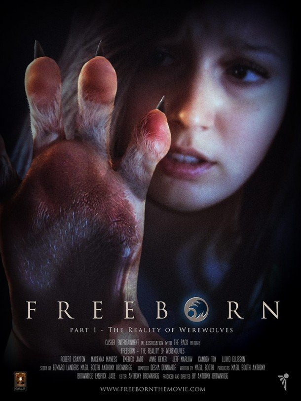Werewolf movie Freeborn poster