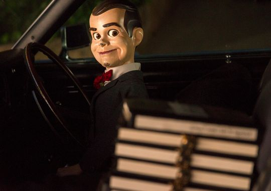 Goosebumps movie still 4 with killer dummy