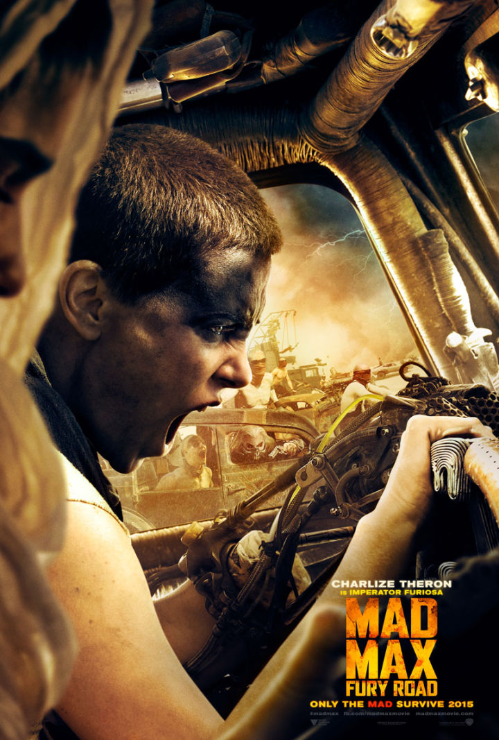 Mad Max: Fury Road movie poster - Charlize Theron