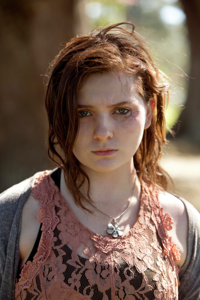 Maggie with zombie Abigail Breslin