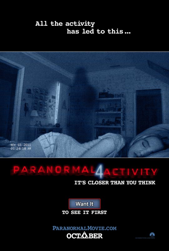 Paranormal Activity 4 Official Poster