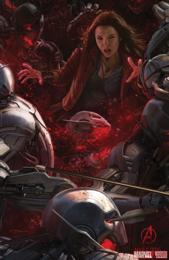 Scarlet Witch from Avengers: Age of Ultron poster