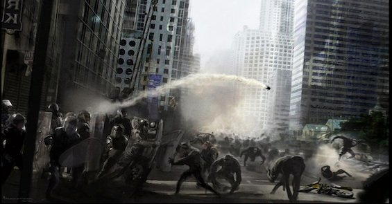 Rise of the Planet of the Apes Concept Art - Ape City