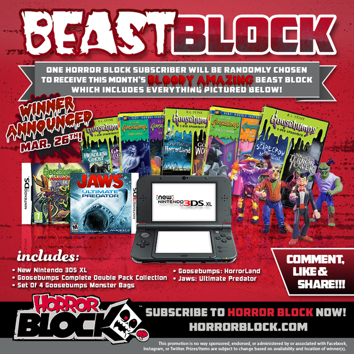 March Beast Block - Goosebumps