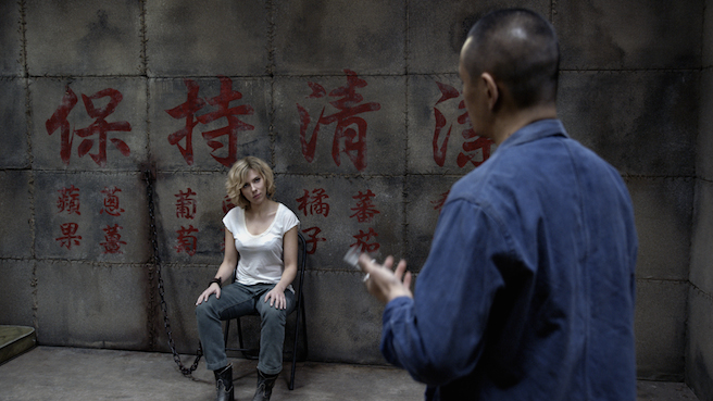Lucy movie still Scarlett Johansson