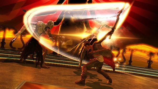 DMC Devil May Cry Bloody Palace Mode Dante beating big demon
