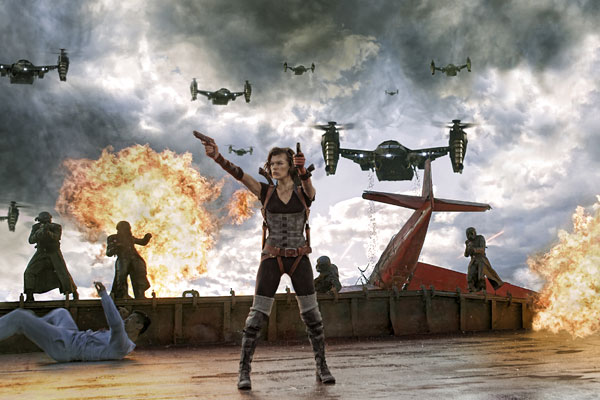 Resident Evil Retribution horror movie
