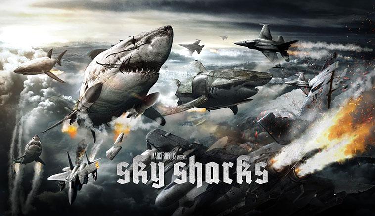 Sky Sharks movie banner