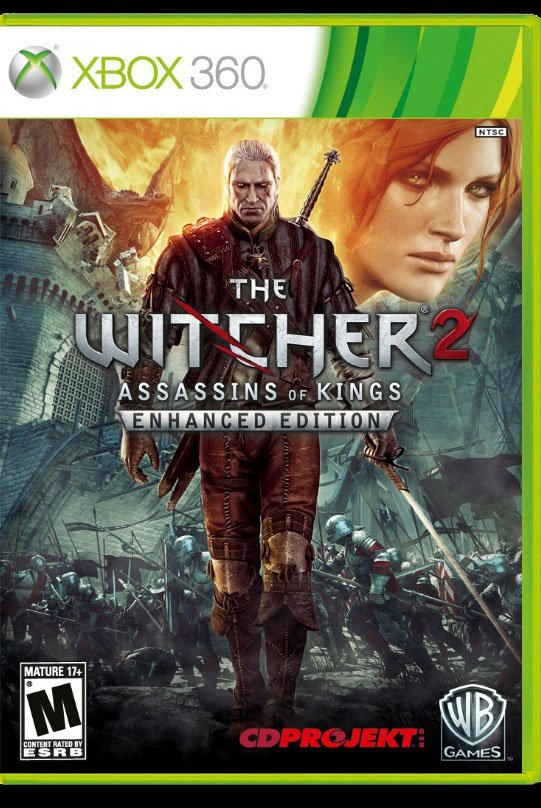 The Witcher 2 Assassins of Kings XBox 360 Box Art