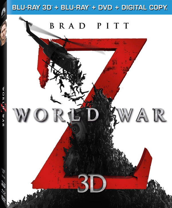 World War Z 3D - Zombies Blu-ray Cover Art