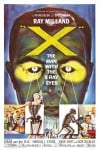 X: The Man with the X-Ray Eyes Movie Poster / Movie Info page