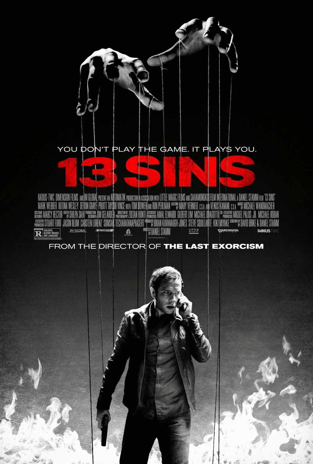 13 Sins (2014) Full Movie Poster