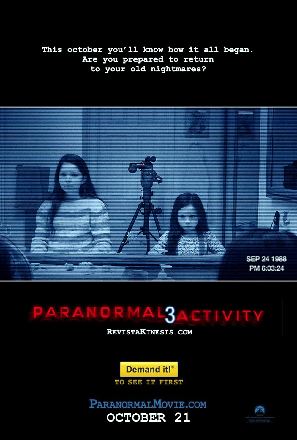 Paranormal Activity 3 2011 Review Movie Reviews