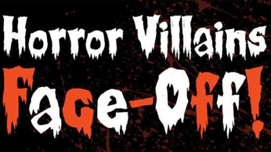 Huge Horror Villains Face-Off Infographic Filled with Horror Icons