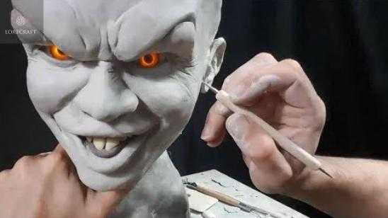 Sculpting Pennywise - Timelapse Sculpt / Airbrush Demo