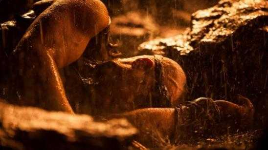 Vin Diesel New Riddick Movie Still - Knocked Down