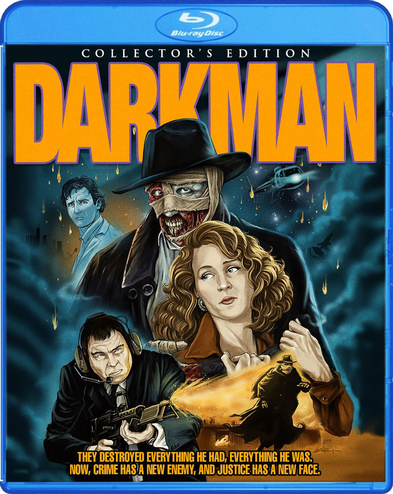 Scream Factory Darkman Blu-ray Release Details and Art