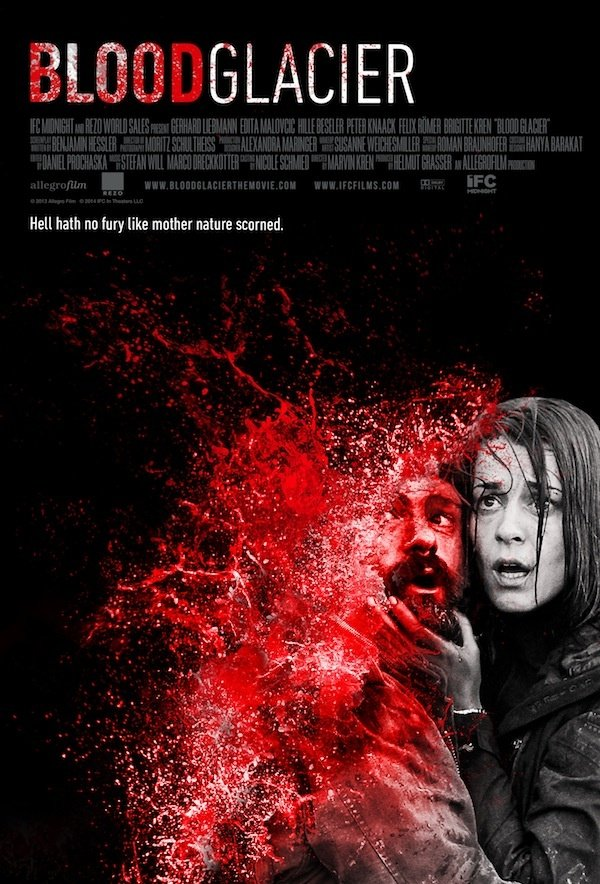 New Blood Glacier Blood Splatter Poster