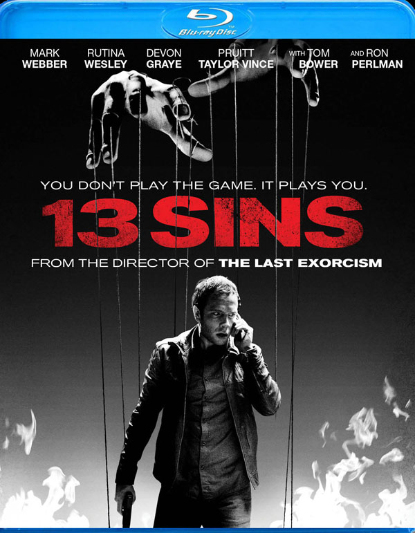13 Sins Blu-ray/DVD Details and Art
