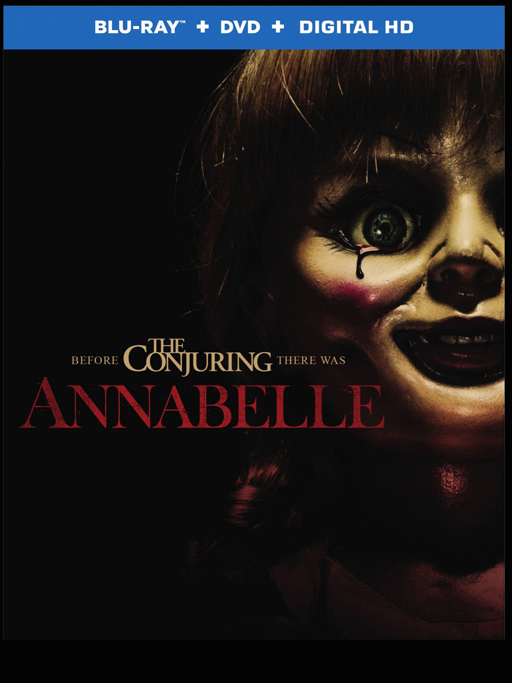 annabelle blu ray dvd release date and cover art hell. Black Bedroom Furniture Sets. Home Design Ideas