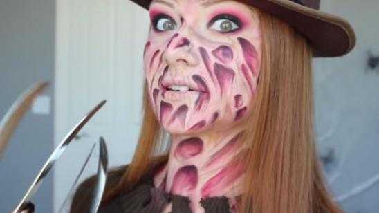 [Must See] Freddy Krueger Makeup Tutorial / Halloween Makeup Tutorial