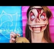Alice Madness Returns - Insane Asylum Child Body Paint Makeup Tutorial
