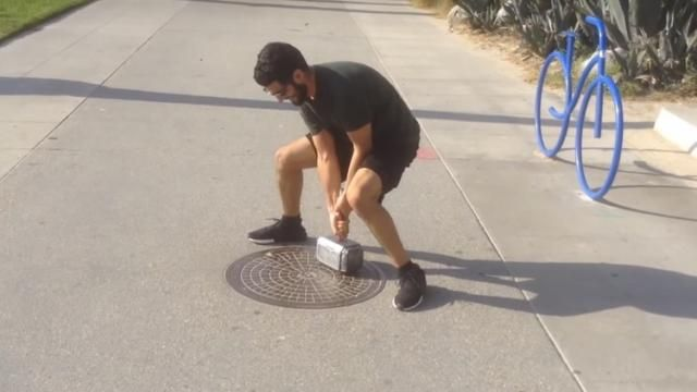 Fan Made Real Life Thors Hammer - Only the Worthy Can Lift It [Video]