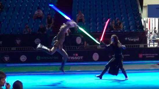 Star Wars Duel in Moscow with Professional Fencers and Lightsabers