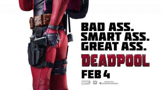New International Poster for DEADPOOL - Bad Ass, Smart Ass, Great Ass