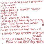 Deadpool Christmas List