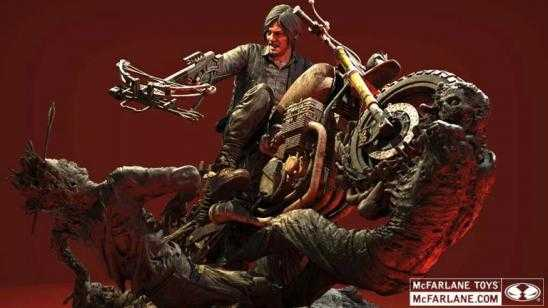 THE WALKING DEAD Daryl Dixon Statue from McFarlane Toys Photos