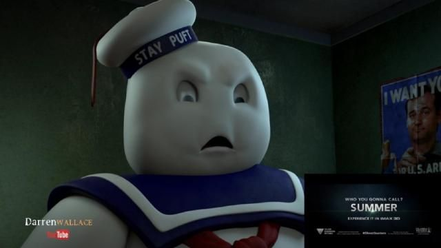 Stay Puft Marshmallow Man Reacts to New GHOSTBUSTERS Trailer [Video]