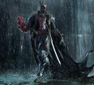 Hellboy / Batman Mashup Art by Bikash Das - HELLBAT