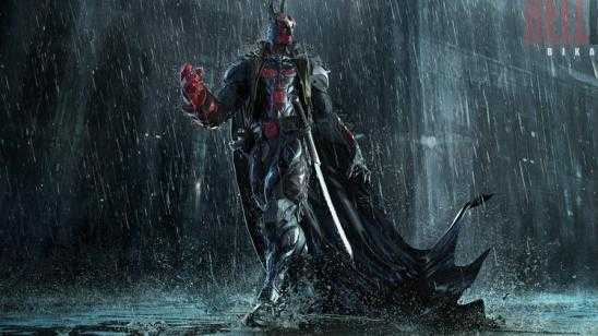 Hellboy / Batman Mashup Art by Bikash Das - HELLBAT