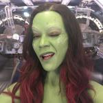 Set Photos Of Zoe Saldana As Gamora From Guardians Of The Galaxy Vol 2 1