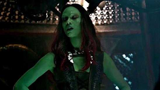 Set Photos of Zoe Saldana as Gamora From GUARDIANS OF THE GALAXY VOL. 2