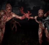 Lady Reaction to Playing Horror VR Shooter THE BROOKHAVEN EXPERIMENT