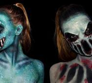 Fantastic Eerie Monster Body Paint Cosplay by 16 Year Old Lara Wirth