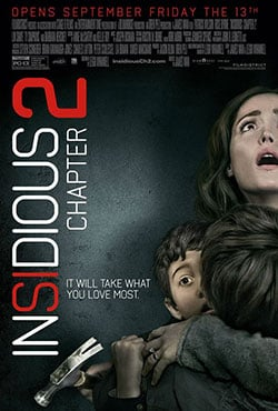 Insidious: Chapter 2 & 1 Blu-Ray Combo Pack giveaway prize